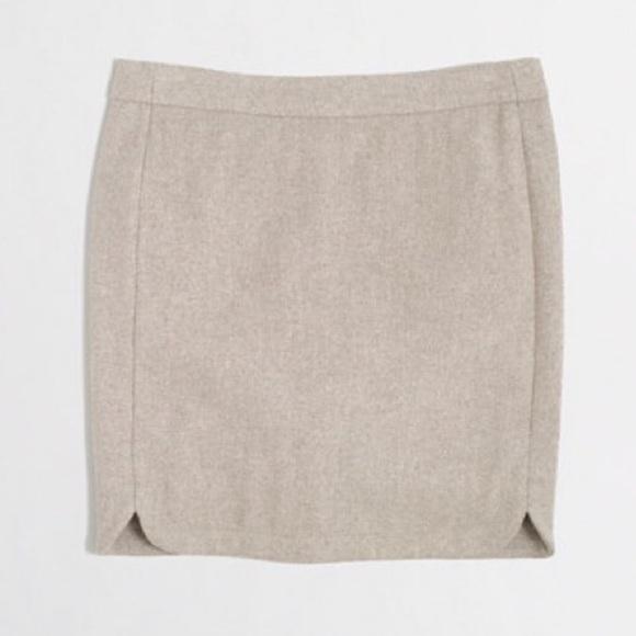 98bd2f3f635baf J. Crew Skirts | Nwt Jcrew Wool Stone Shirttail Mini Skirt | Poshmark